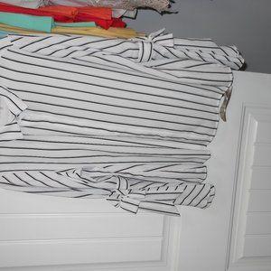 Black and White Stripe Karl Lagerfeld Blouse